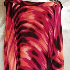 Boston Proper pink maxi skirt size 14